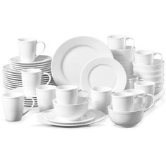 Pickwick by gorham 48 piece set (675 BRL) ❤ liked on Polyvore featuring home, kitchen & dining, dinnerware, porcelain dinner plates, porcelain dinnerware sets, microwave safe bowl, porcelain bowl and microwave safe dinner plates