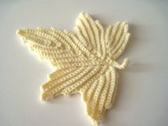 Crocheted Ivory Leaf Irish Lace