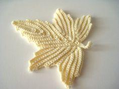 Crocheted Ivory Leaf Irish Lace