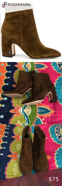 Sam Edelman Suede Hilty Bootie size 8.5 Excellent condition Worn less than 5 times Size 8.5 Sam Edelman Shoes Ankle Boots & Booties