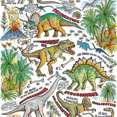 "NAME: Dinosaurs CODE: GW164 PRICE: £1.50 Presentation: Flat gift wrap sheet Paper Type: 100 gsm Artist: Amanda Loverseed Size: 19 1/2 x 27 1/2"" : 500 x 700mm Other products to consider: Note: All gift wrap has handy cutting lines on the back"