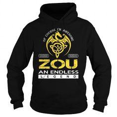 I Love ZOU An Endless Legend (Dragon) - Last Name, Surname T-Shirt Shirts & Tees