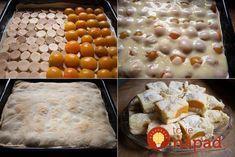 Máte chuť na skvelú dobrotu s rýchlou a jednoduchou prípravou? Vyskúšajte tento lahodný marhuľový koláčik. Je nielen jednoduchý na prípravu, alechutí tak skvele, že unás doma sa po ňom vždy len tak zapráši! :-) Hungarian Cuisine, Hungarian Recipes, Delicious Desserts, Dessert Recipes, Yummy Food, Czech Recipes, Puff Pastry Recipes, Sweet Cookies, Tasty Dishes