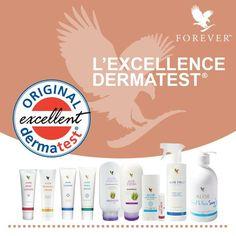 Tous les 110 produits cosmétiques de Forever ont été testés par l'institut scientifique Dermatest !
