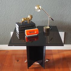 Vintage 70s Smoked Lucite End Table by FireflyVintageHome on Etsy