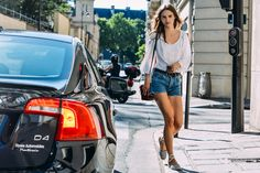 How to Make Cutoffs Look Chic - Street Style, Tilda Lindstam, Models, Shopping