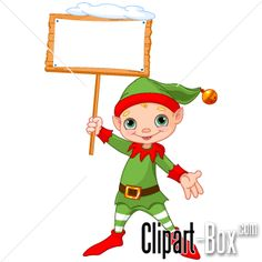 CLIPART CHRISTMAS ELF WITH FRAME