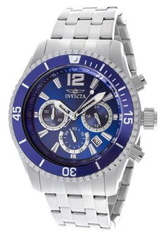 Men's Specialty Blue Dial Stainless Steel