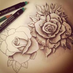 Working progress. Roses design by ~EdwardMiller on deviantART