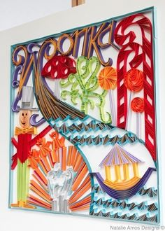 """Natalie Amos Designs   Card Quilling - """"Charlie and the Chocolate Factory"""""""