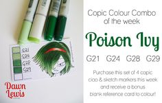 Copic Colour Combo of the week Poison Ivy