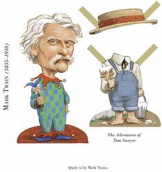 Dover Publications Sample: Literary Greats Paper Dolls: Mark Twain