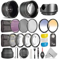 52MM Complete Lens Filter Accessory Kit for NIKON D3300 D3200 D3100 D3000 D5300 D5200 D5100 D5000 D7000 D7100 DSLR Camera - Includes: Vivitar Filter Kit (UV, CPL, FLD) + Vivitar Macro Close Up Set (+1, +2, +4, +10) + Altura Photo ND Neutral Density Filter Set (ND2, ND4, ND8) + Carry Pouch + Tulip Lens Hood + Collapsible Lens Hood + Center Pinch Lens Cap + Cap Keeper Leash + MagicFiber Microfiber Lens Cleaning Cloth