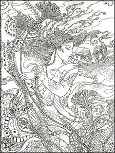 Kraken Adult Colouring Page