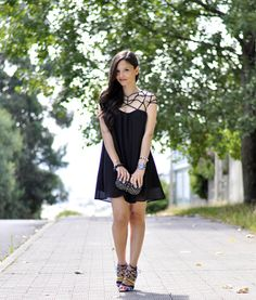 * Petit and Sweet Couture: ... Blogger Swap: Black Dress ...