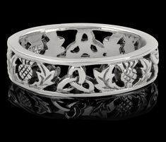 Historic Connections | Scottish Thistle Silver Ring 0738 I want this!!!