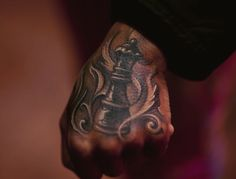 """Dutchess of Black Ink. // I want this queen chess piece tattoo. Not on my hand though, on my arm. Because the queen is the strongest piece on the chess board. """"The queen ain't no bitch. She got all the moves."""" - Deangelo Barksdale, The Wire"""