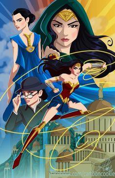 Wonder Woman by Cartoon Cookie Wonder Woman Fan Art, Wonder Woman Comic, Gal Gadot Wonder Woman, Wonder Art, Cartoon Cookie, Wander Woman, Dc Characters, Dc Heroes, The Villain