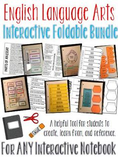 This English Language Arts foldable bundle can be used as writing skills mini lessons throughout the year and are a perfect addition to an existing interactive notebook.