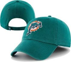 NFL Miami Dolphins Clean Up Adjustable Hat, Tailgate Teal, One Size Fits All Fits All by '47 Brand. $17.99. Team logo embroidered at front. 100% cotton. One size fits all. Adjustable back with cotton strap and metal snap. Relax Fit. Introducing the '47 Brand Miami Dolphins Clean Up Adjustable cap. Officially licensed by National Football League, this '47 Brand exclusive features a relaxed and adjustable fit with that classic, vintage throwback look, and is available f...