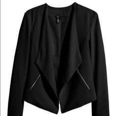 Black blazer Cute and chic draped open blazer...worn a few times was to small for me perfect condition H&M Jackets & Coats Blazers