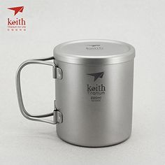 Keith Titanium DoubleWall Mug with Folding Handle and Lid  74 fl oz >>> More info could be found at the image url.