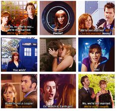 The Doctor and Donna  The best of friends.