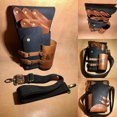 Premium Leather Shear Holster Hairdressers by LuBuLeatherDublin