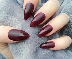 Pointed half matte nails www.publicdesire.com