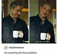 me watching john watson say he isnt dating sherlock Sherlock Bbc, Sherlock Fandom, Benedict Cumberbatch Sherlock, Sherlock Quotes, Funny Sherlock, Sherlock Season, Watson Sherlock, Jim Moriarty, Martin Freeman