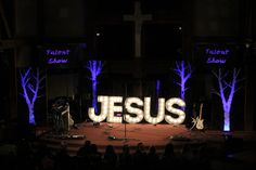 Tree Panels from FBC | Elkhart in Bristol, IN | Church Stage Design Ideas