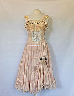 Women's Dress  Shabby Chic Upcycled Clothing  by AmadiSloanDesigns, $65.00