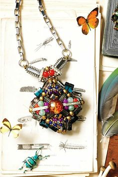 Damselfly Pendant Necklace