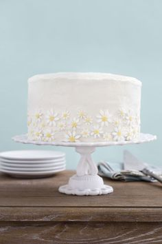 Serve this light and fluffy cake for Easter brunch. Recipe: Lemon-Coconut Cake With Mascarpone Frosting