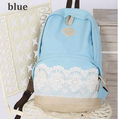 fashion cute lace canvas backpack