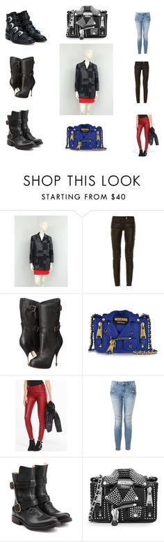 """""""Biker Style"""" by sprightlyvoguevintage on Polyvore featuring Balmain, Vivienne Westwood, Moschino, Witchery, Fiorentini + Baker, Givenchy, Leather, retrostyle, suedejacket and polyvorefashion"""