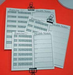 A personal favorite from my Etsy shop https://www.etsy.com/listing/272505582/exercise-health-tracker-insert-for