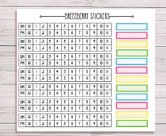 Timeline stickers plus blank boxes for journals, planners and diaries