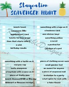 Staycation Scavenger Hunt PDF file printable home game,fun games,kids games, no school, family time, scavenger hunt, scavenger hunt for kids Funny Scavenger Hunt Ideas, Photo Scavenger Hunt, Scavenger Hunt For Kids, Scavenger Hunts, Fun Games For Kids, Activities For Kids, Kindness Activities, Battleship Game, Travel Humor