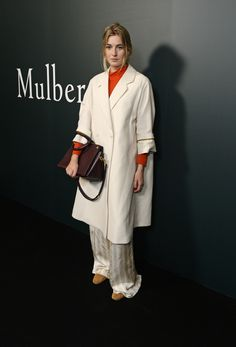 Camille Charierre with the Chester bag from Autumn 2016 at the Mulberry London Fashion Week show