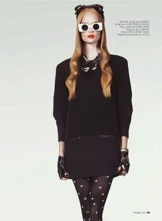 Henrietta Hellberg by Andrew Yee for Elle Vietnam Oct. 2011 on Fashion Gone Rogue #fashion #polkadot