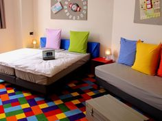 """The """"Milles Bornes"""" room at FunKey - Seriously Cool Brussels Hotel"""