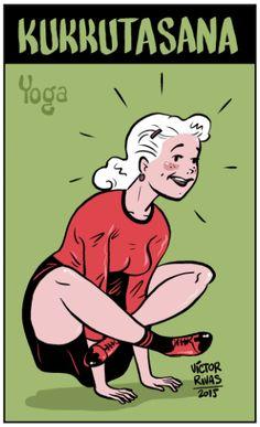 Victor Rivas: Chica haciendo Yoga