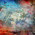 Ella and Viv Paper Company - Graffiti Collection - 12 x 12 Paper - The Blues