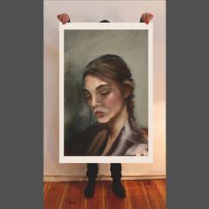 Young girl, fine art print, painting, giclee, portrait, Hahnemühle paper, artwork, oil painting, figurative art, spatula technique,