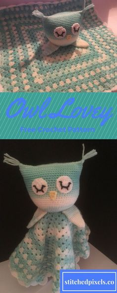 Free Crochet Pattern! Surprise any mom-to-be with the super cute, and very cuddly owl lovey. This pattern only uses basic stitches, and has lots of pictures to help beginners.
