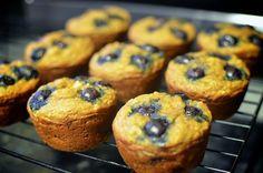 Whole wheat banana blueberry muffin