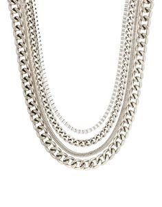 ASOS Pack of Four Chain Necklaces