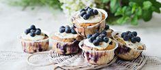Helpot mustikkamuffinit valmistat nopeasti, sillä taikina vain sekoitetaan. Jogurtti tuo taikinaan mehevyyttä ja kardemumma mustikkapiirakan makua. Noin 0,30€/annos. Something Sweet, Baked Goods, Cheesecake, Cooking Recipes, Cupcakes, Favorite Recipes, Candy, Baking, Breakfast