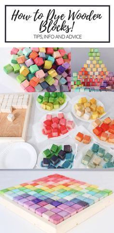 How to Dye Wooden Blocks How to Dye Wooden Blocks Related posts: DIY Abstract Painted Wooden Baby Blocks Project Nursery: Wooden Baby Blocks DIY How to Build a Baby DIY Wooden Bassinet Image showing for diy baby blocks for the shower Diy For Kids, Crafts For Kids, Diy Crafts, Wooden Baby Blocks, Wood Blocks, Making Wooden Toys, Diy Wooden Toys For Babies, Wooden Baby Toys, Kids Blocks